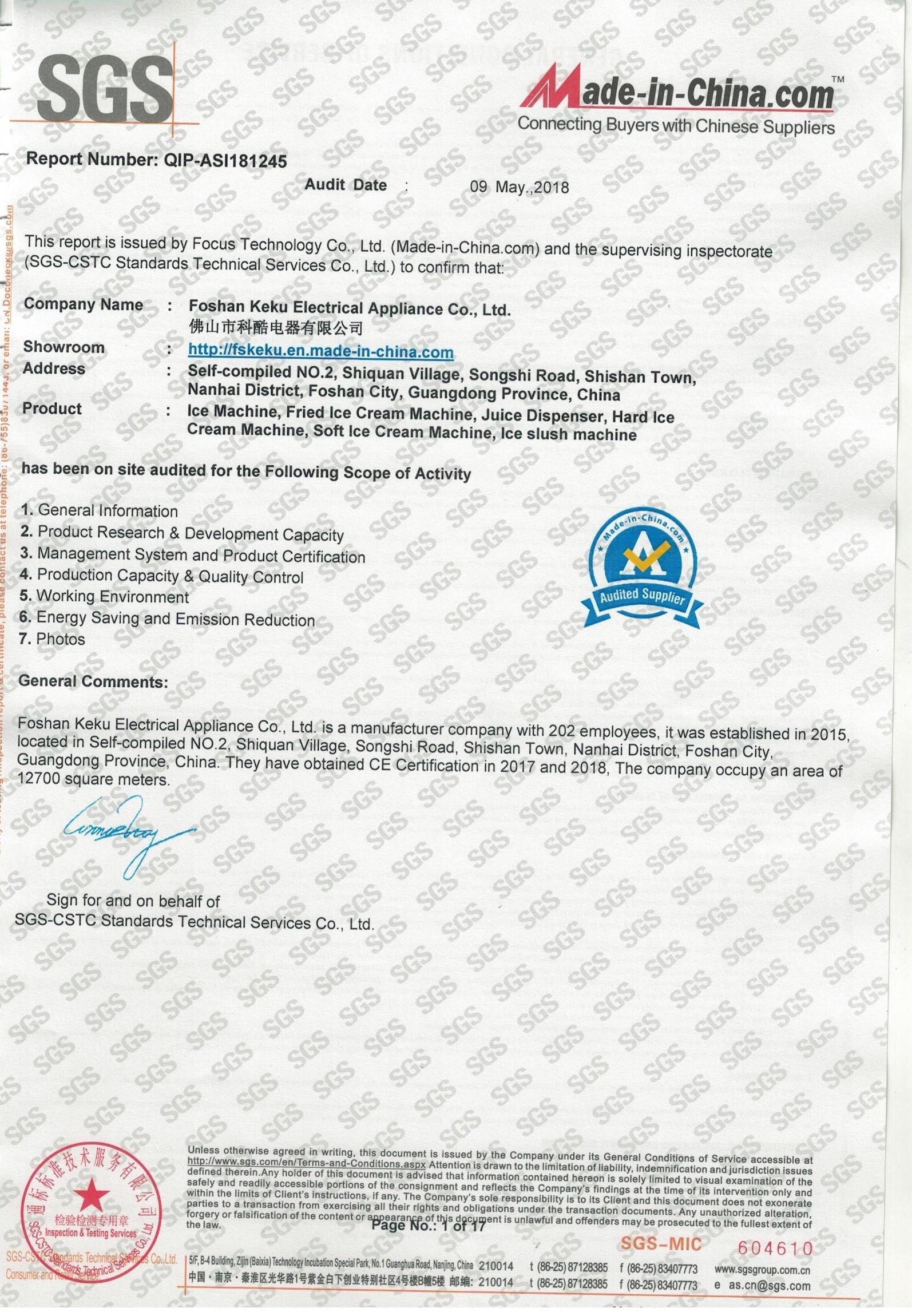 SGS certification - News Center - 意卡夫